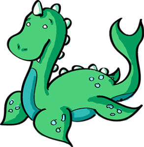 Colored digital drawing of a teal plesiosaur. This is a player character option from the Prometheusaurus game.
